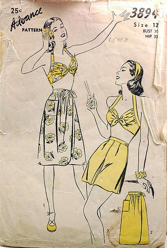 1940s playsuit