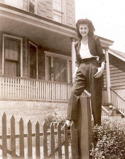 1940's women in pants