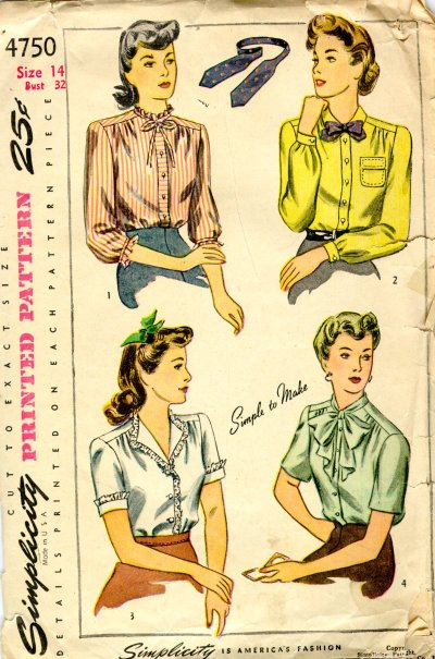 1940s Women's blouse