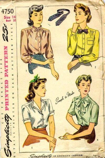 1940s Women's blouse