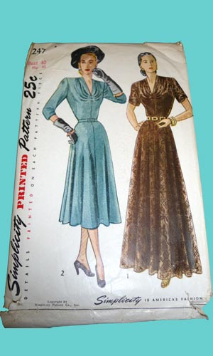 1940s eveningwear short and long dresses