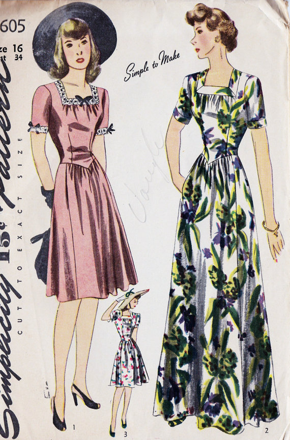 1940s vintage hawaiian dress