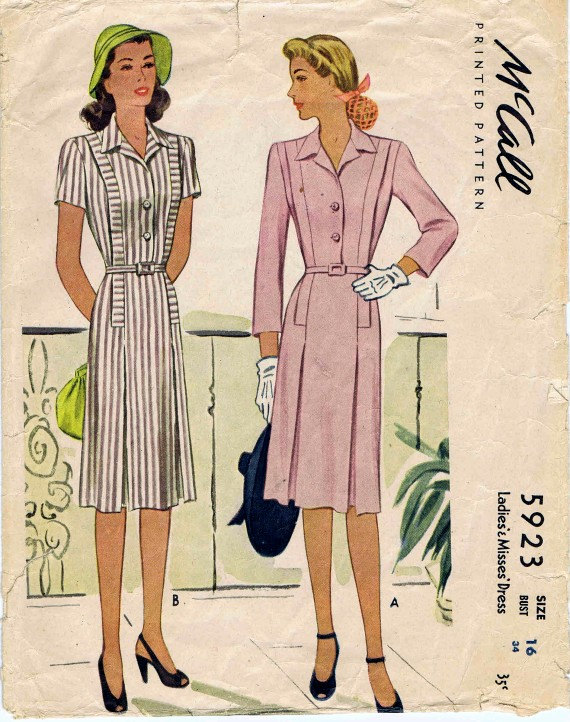 1940s Shirtwaist dress