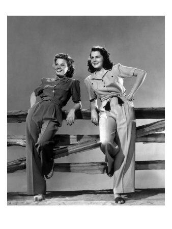 1940s vintage image of women in slacks