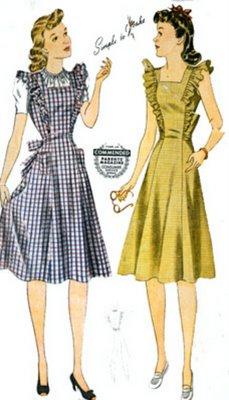 1940s pinafore dress