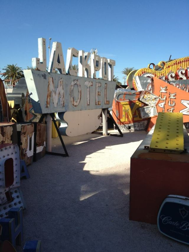main area of neon boneyard