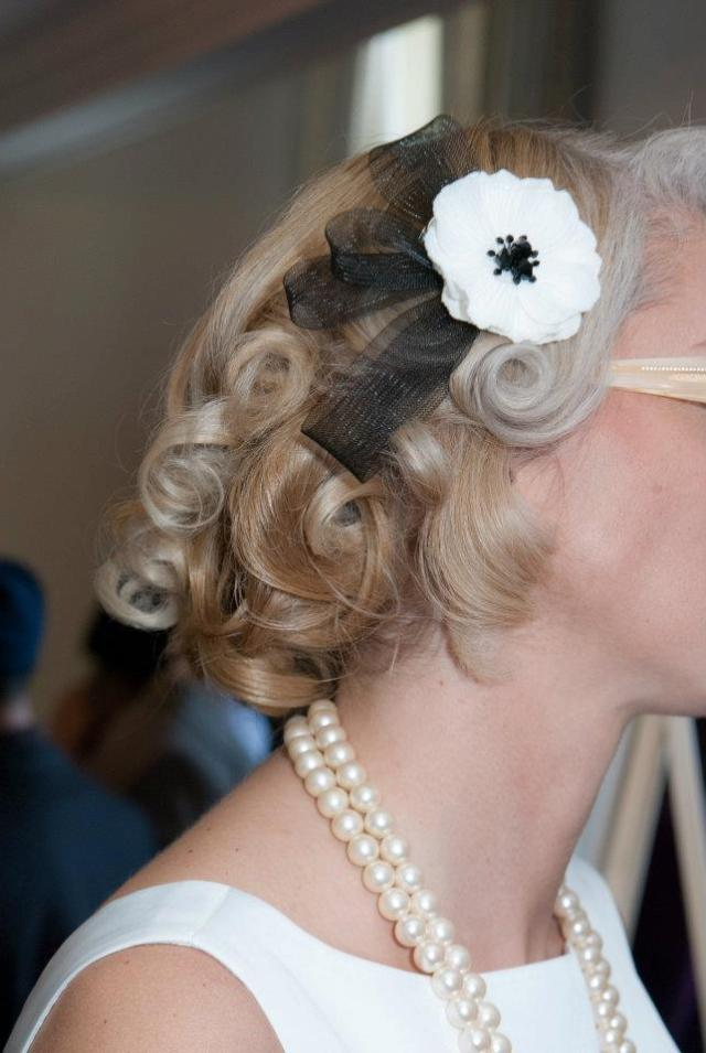 1950's wedding hair accessories