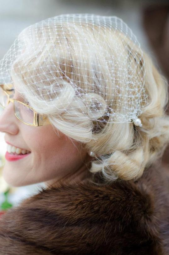 1950's wedding hair and makeup