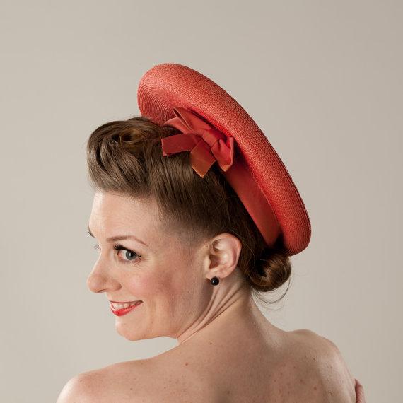 1950's orange hat