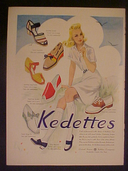 vintage shoe ad