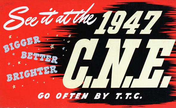 CNE advertising 1947 TTC Toronto