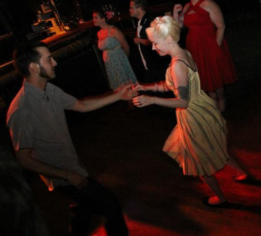 Bop n Bowl dancing