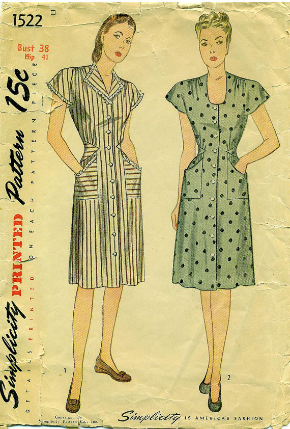 1940's House Dress