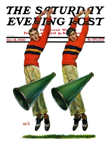 Saturday Evening Post Cheerleading