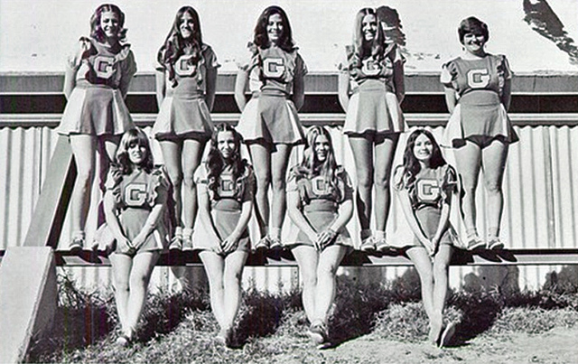 vintage cheerleaders