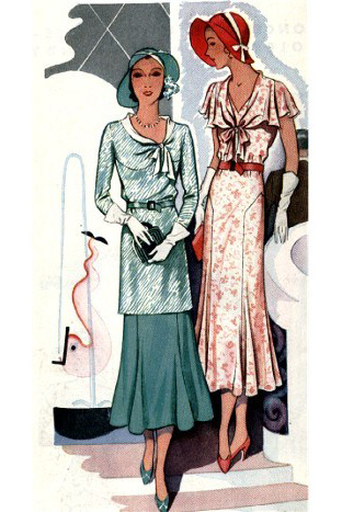 1930 womens fashion