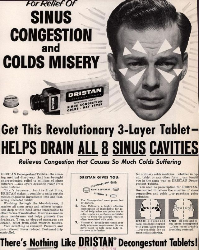 1950s cold medicine ad