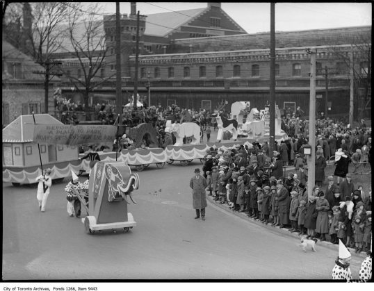 Eaton's Santa Claus Parade, Noah's ark & animals. - November 20, 1926