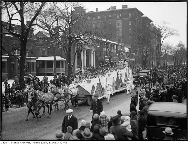 Toronto Santa Claus Parade 1930s
