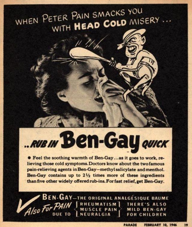 Vintage Ben-Gay ad