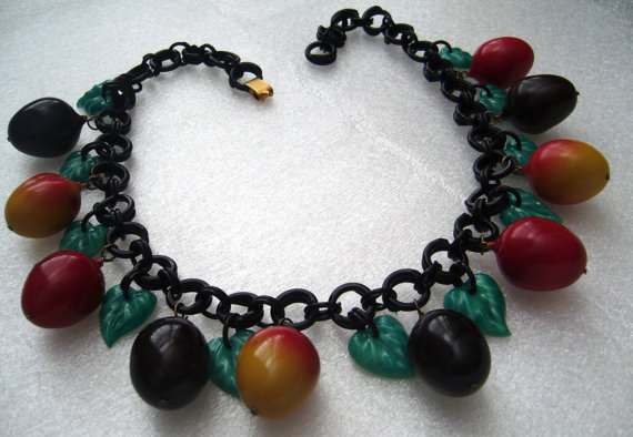 vintage celluloid necklace
