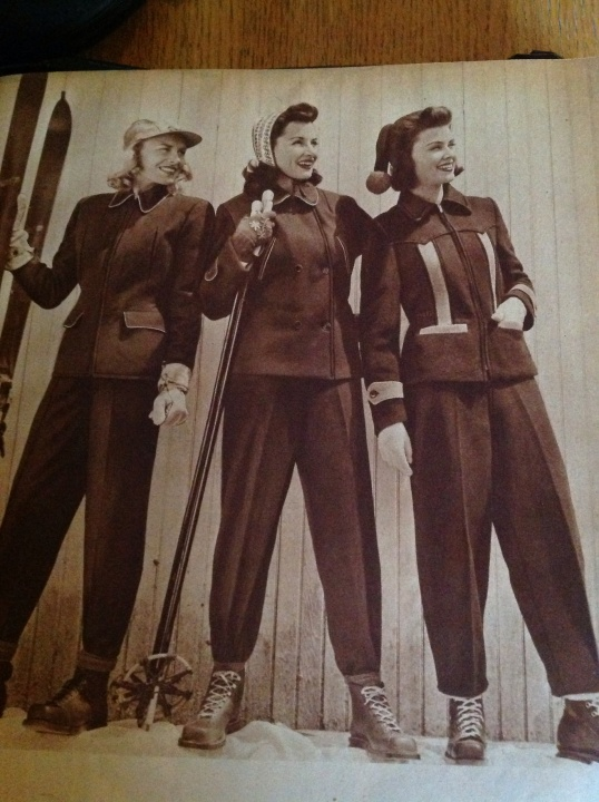 1940s skiing outfits