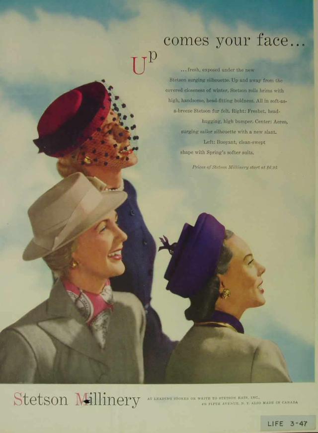 Stetson 1940s Hats