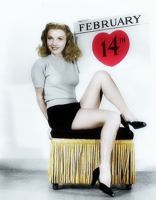 1940s Valentines Day Pinup