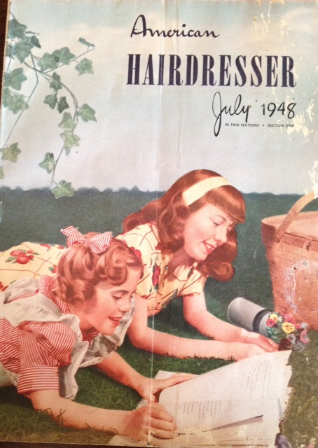 1940's hairdressing magazine