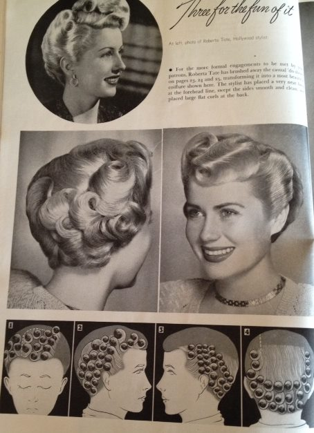 1940's vintage hairstyle
