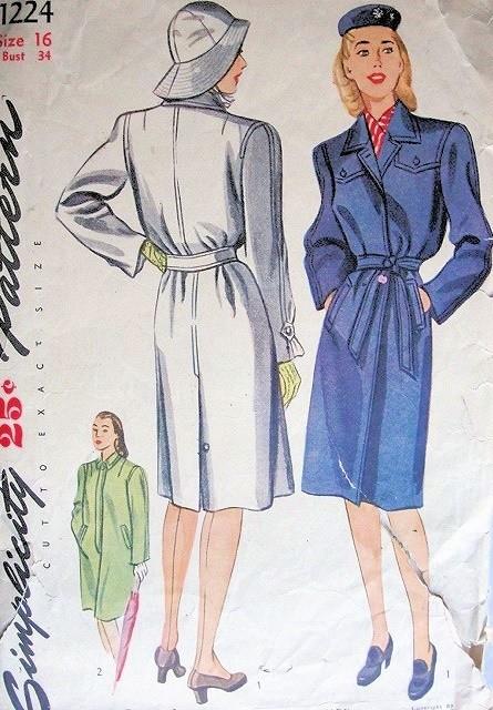 1940s raincoat
