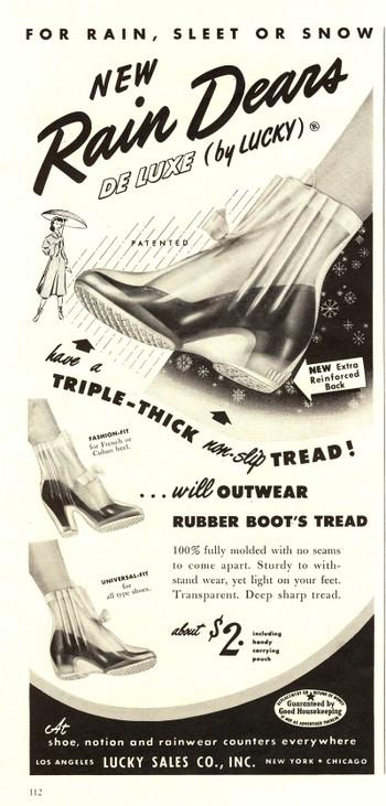 1950s rainboots ad