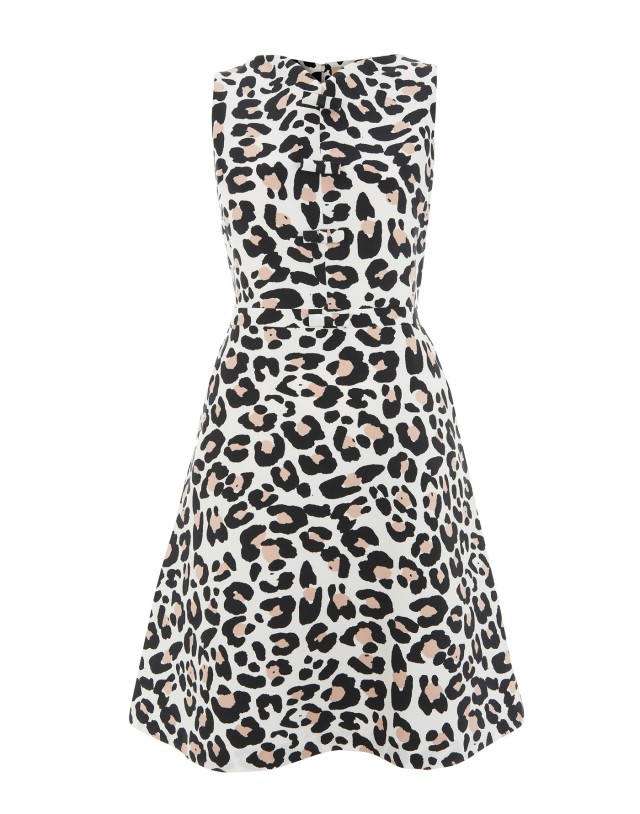 Havren-Leopard print silk dress