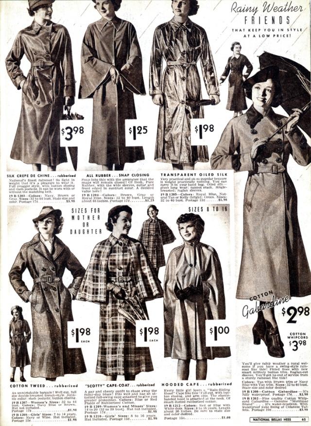 rainwear 1930s