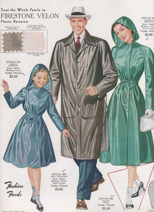 vintage raincoats