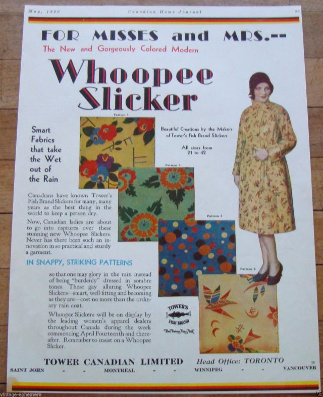 Whooppe Slicker 1930s raincoat