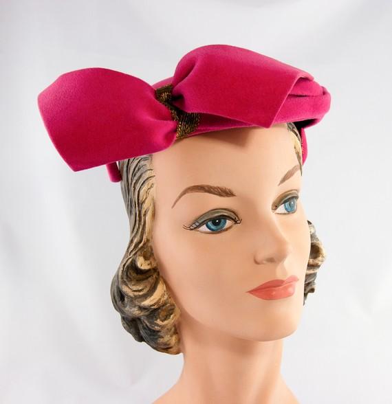 1940s wool felt hat