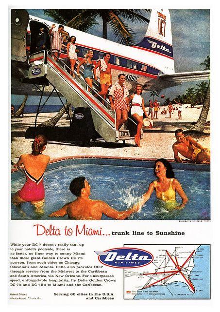 vintage miami travel ad