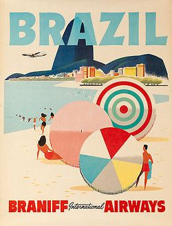 Brazil vintage travel ad