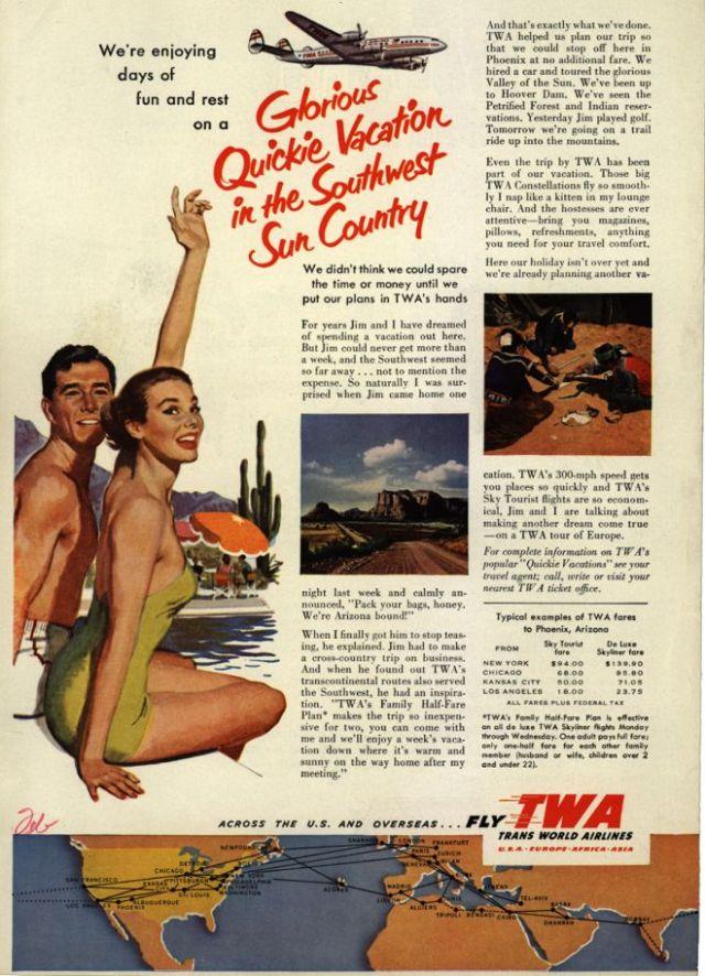 TWA vintage ad