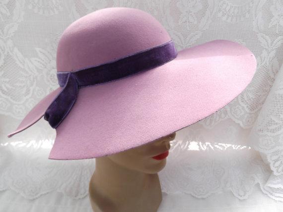 purple velvet hat vintage