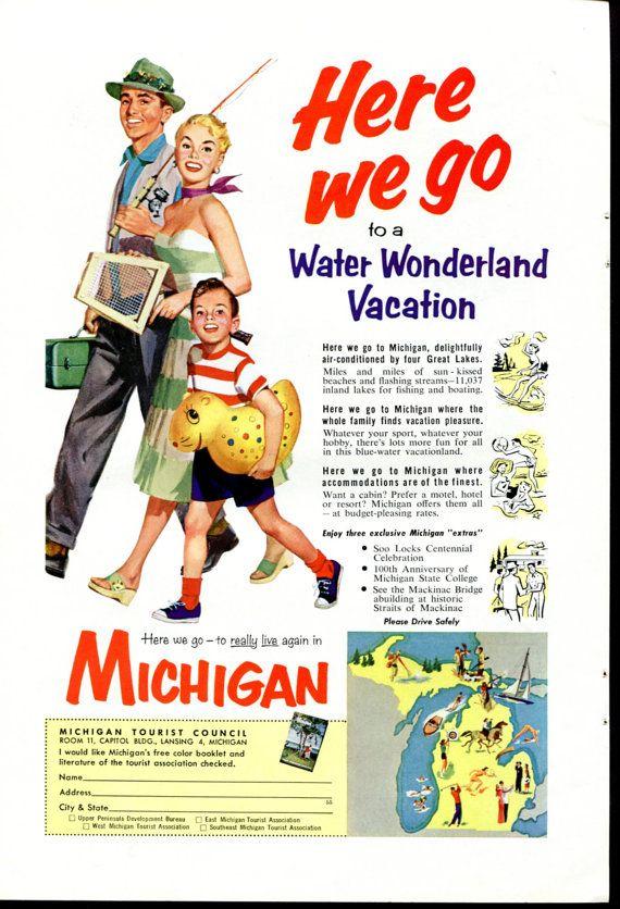 vintage vacation michigan