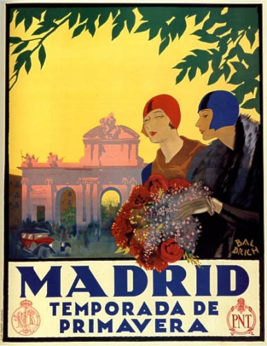 1920s spain travel poster