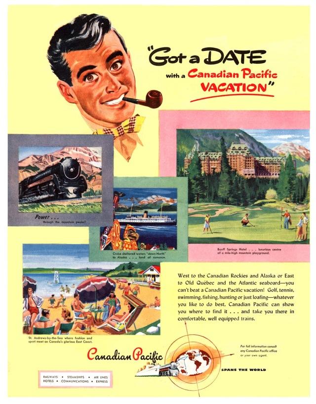 1940s train ad