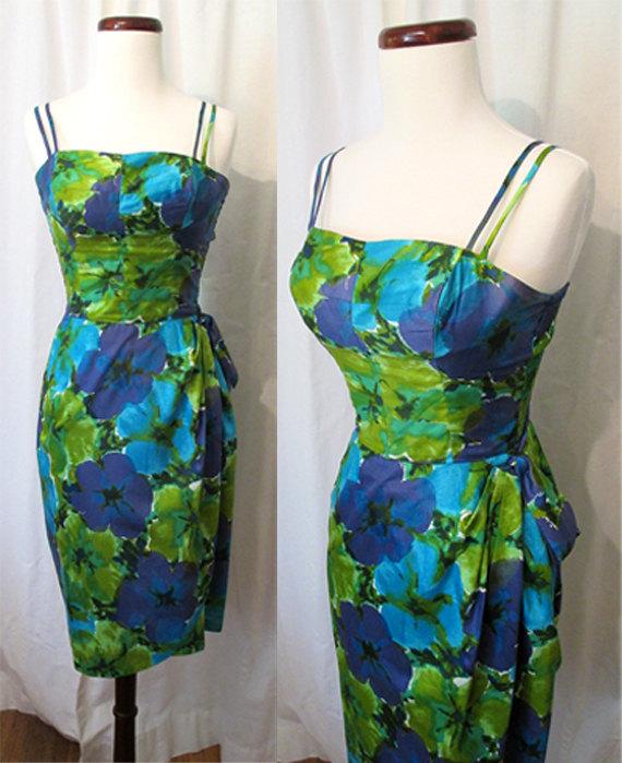 1950s sarong dress