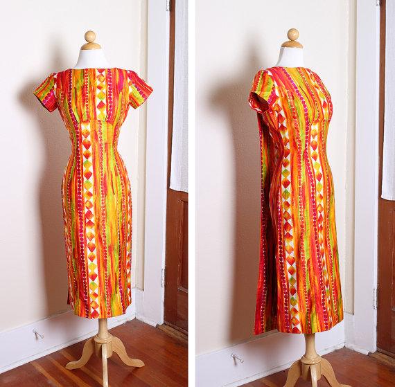 1950s tiki dress