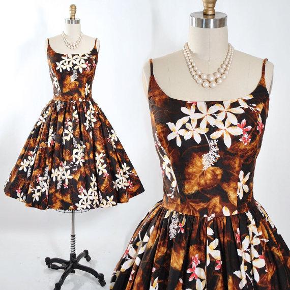 1950s tiki swing dress