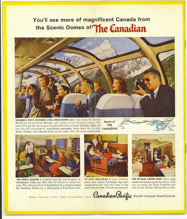 1958 Canadian Pacific Railways Train Ad