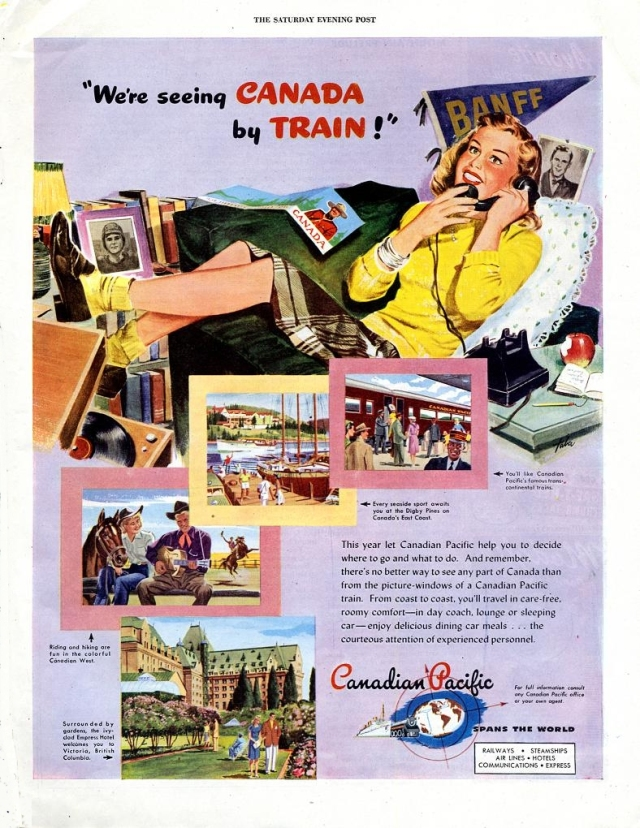 1940s Canadian Train Advertising