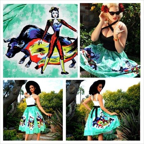 pinup girl clothing matador skirt